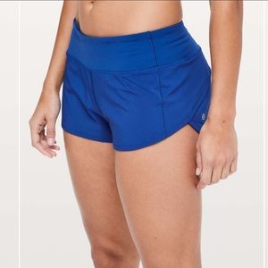 "Lululemon Speed Up Short 2.5"" Cyber Blue"